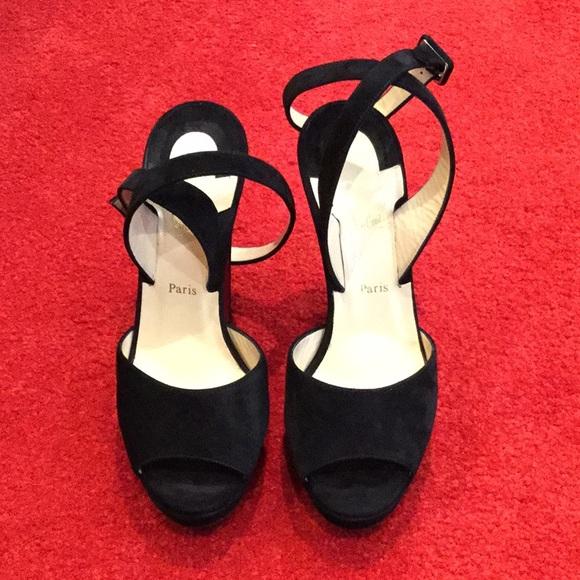 a107c29cb98 Christian Louboutin Shoes - Louloudancing Suede Platform Sandals
